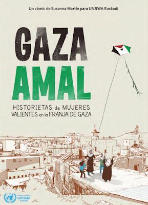 Cómic GAZA AMAL, de Susana Martín