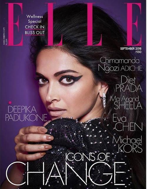 Actress Deepika Padukone Poses For ELLE Navel Queens