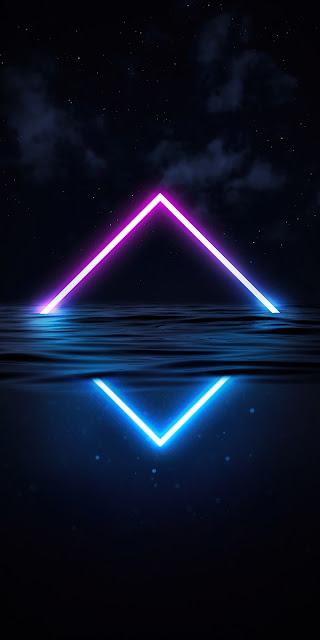 HD Wallpaper Abstract Glowing Neon Triangle