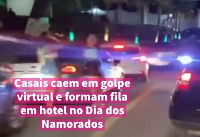 Casais caem em golpe virtual e formam fila em hotel no Dia dos Namorados