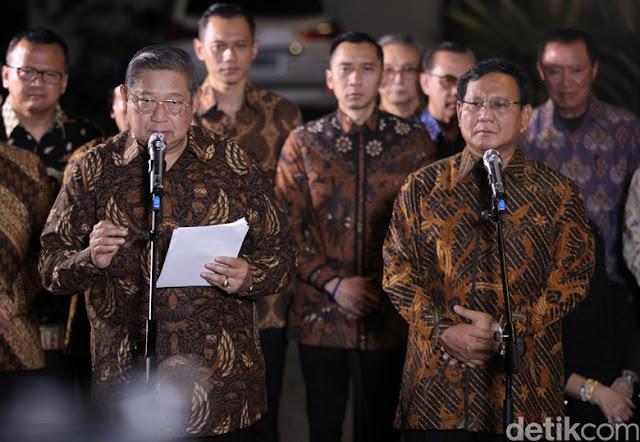 Komitmen SBY-Prabowo untuk Pilpres yang Peaceful, Truth, and Fair