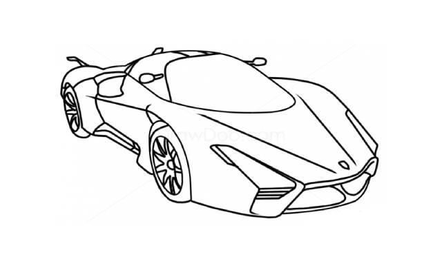 dibujos faciles de autos para imprimir