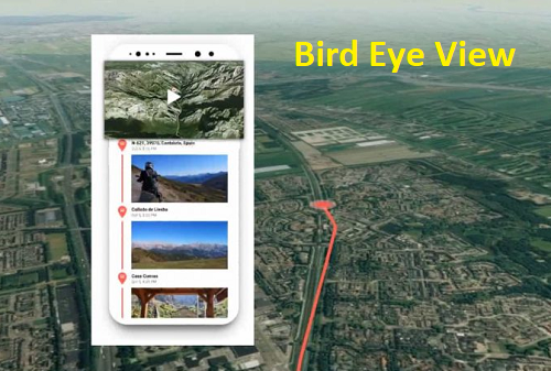Create your Exciting Travel Animated Bird Eye View Video on the map netkiduniya