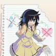 Watamote Episode 01  - Thats What A Freak Means l Featured Anime Downloads l Anime Movies Mangas And Much More