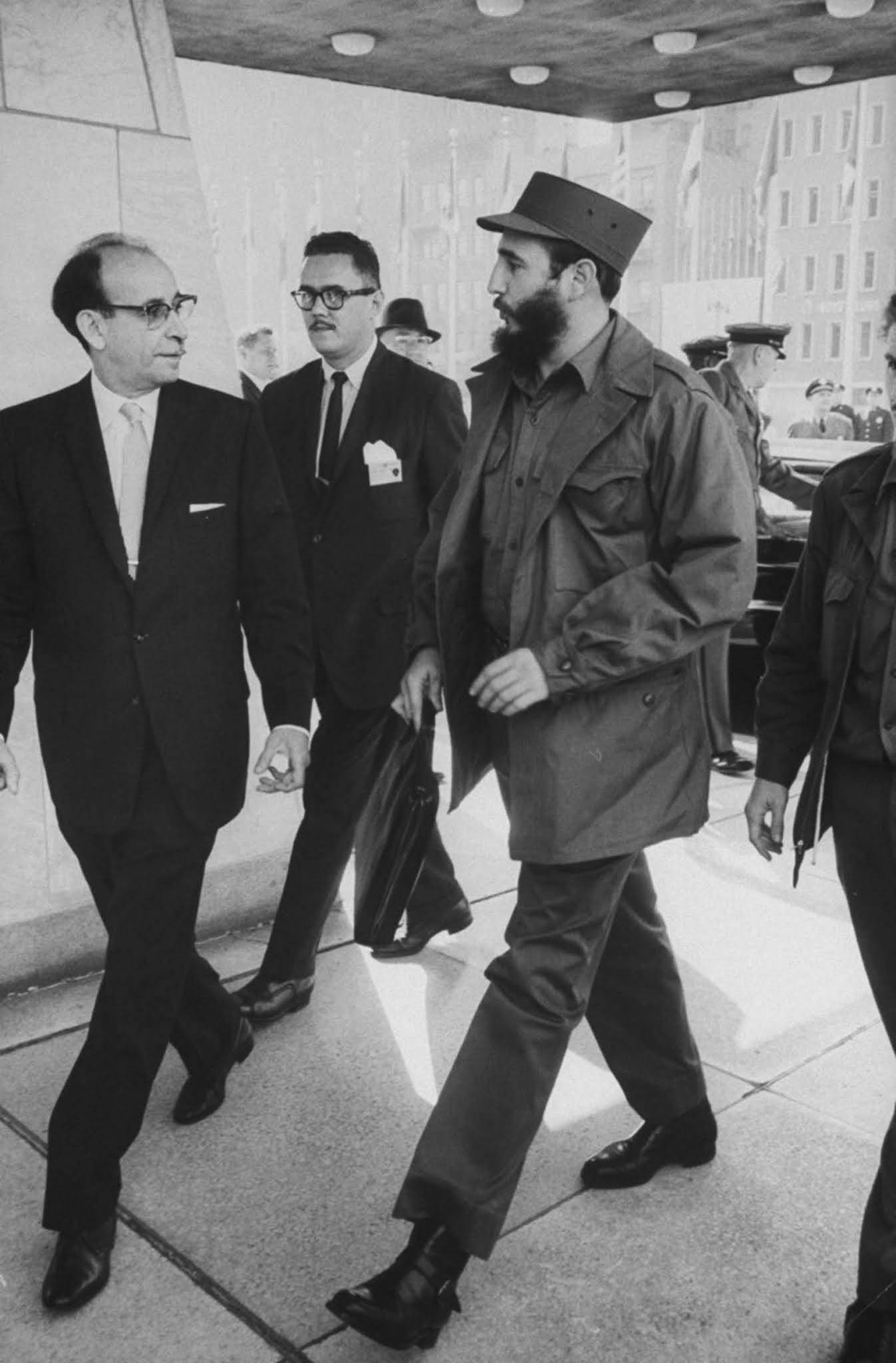 Castro at the United Nation headquarters.
