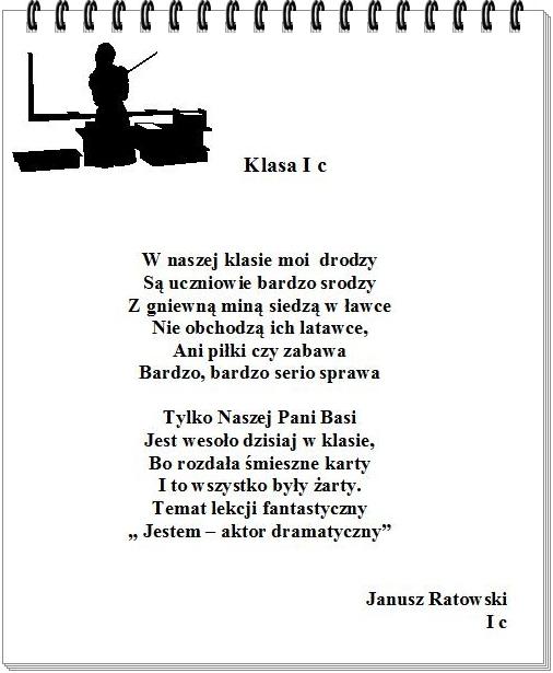 Migawki Z życia Klasy Konkurs Poetycki