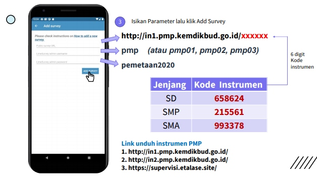 Isikan Parameter lalu klik Add Survey