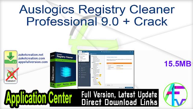 Auslogics Registry Cleaner Professional 9.0 + Crack