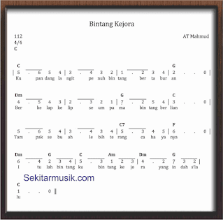 not angka lagu bintang kejora lagu anak anak