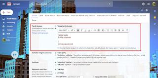 cara memasukkan teks otomatis pada pesan di gmail