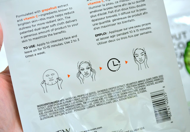 Avon Sheet Mask Review