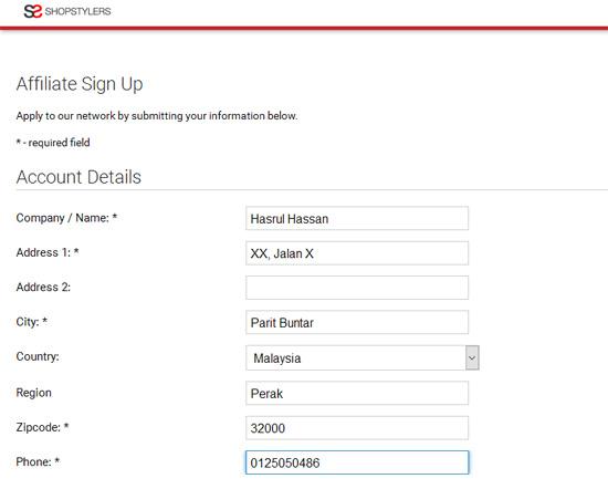 Cara Daftar Affiliate Percuma InvolveAsia