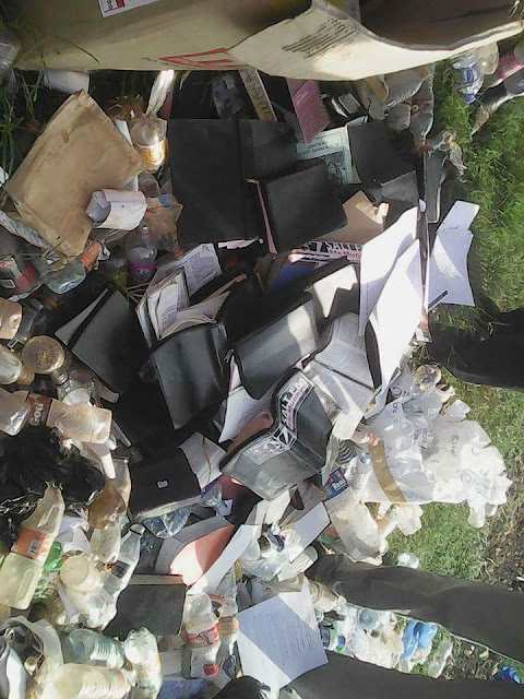 Pastor burns thousands of Holy Bibles because they are 'misleading' his congregation