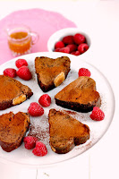 Valentines Day Chocolate Brownie Hearts Platter