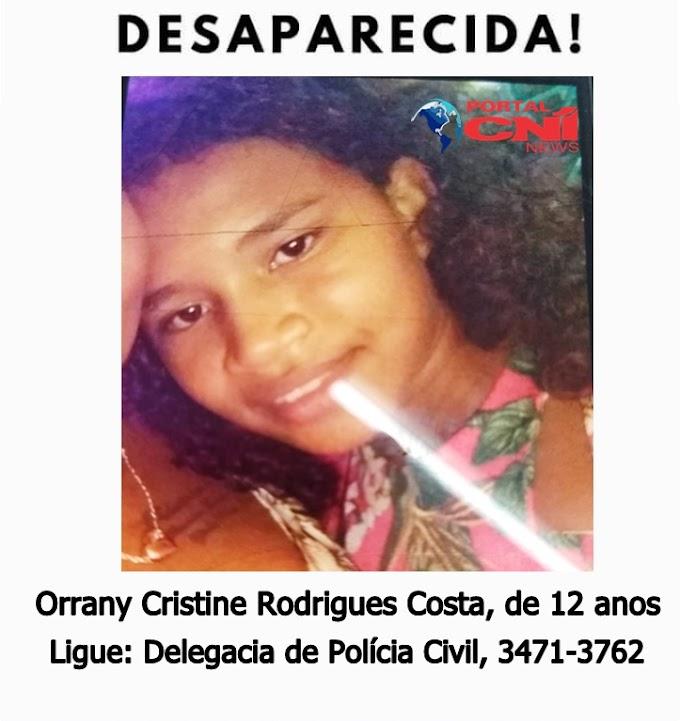 Estudante de 12 anos está desaparecida em Chapadinha-MA