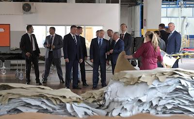 Vladimir Putin visited Ryazan Tannery.