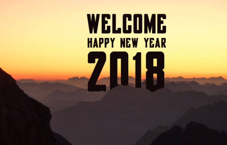 Welcome 2018 Happy New Year for Facebook Whatsapp