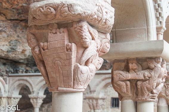 Detalle del Claustro San Juan de la Peña. Huesca
