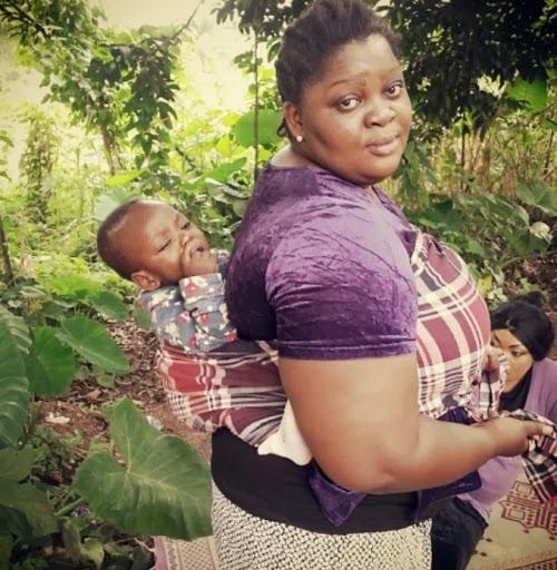 Eniola Badmus And Mercy Johnson Fighting On Movie Set