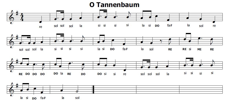 Conosciuto Musica e spartiti gratis per flauto dolce: O Tannembaum - Oh Albero HO02