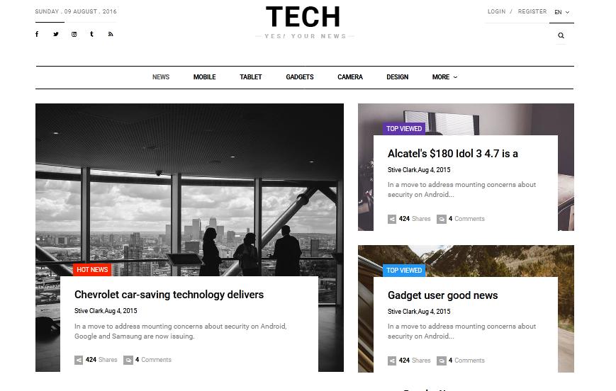 Tech News-Template