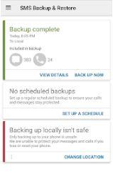 تحميل تطبيق SMS Backup & Restore النسخ الاحتياطي والاستعادة للرسائل النصية SMS :