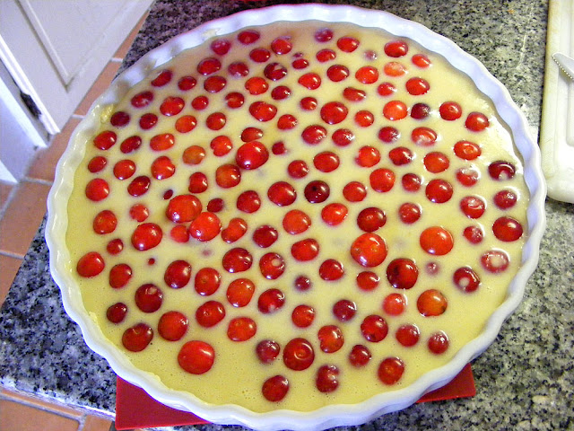 Clafoutis, ready for the oven. Photo by Loire Valley Time Travel.
