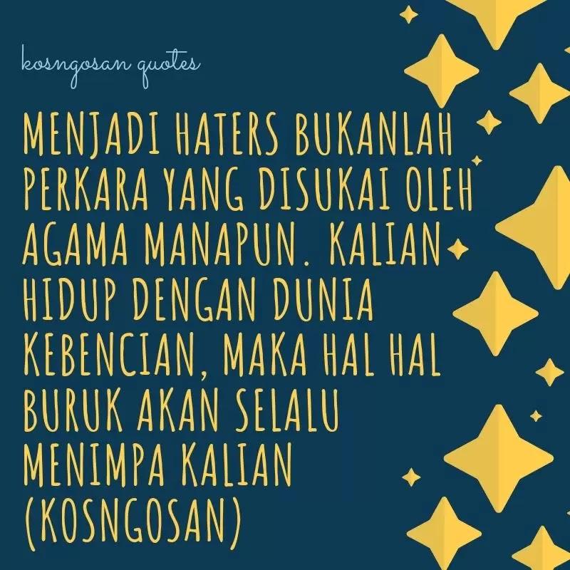 kata bijak pembenci hater