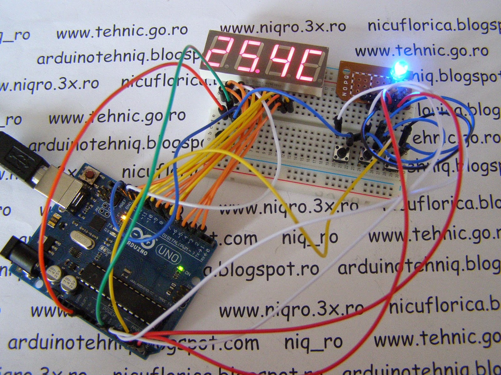 Arduino Tehniq Thermostat On 7 Segment Led Display Arduino7segmentleddisplaycircuitpng And If Is To Much Red