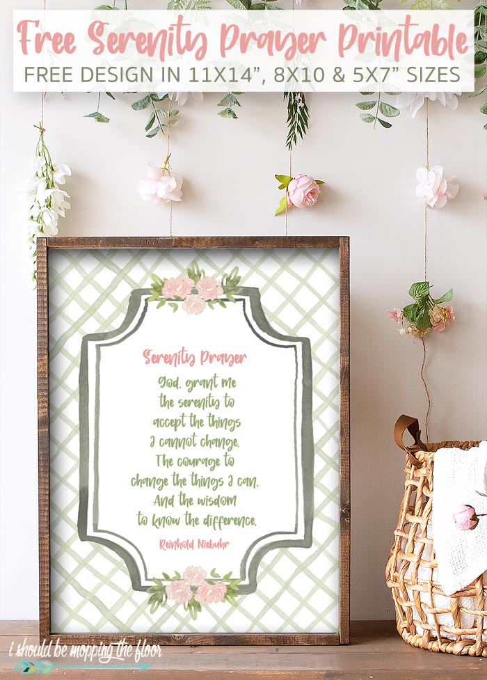 Printable Serenity Prayer
