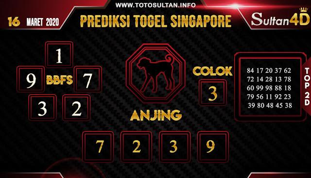 PREDIKSI TOGEL SINGAPORE SULTAN4D 16 MARET 2020