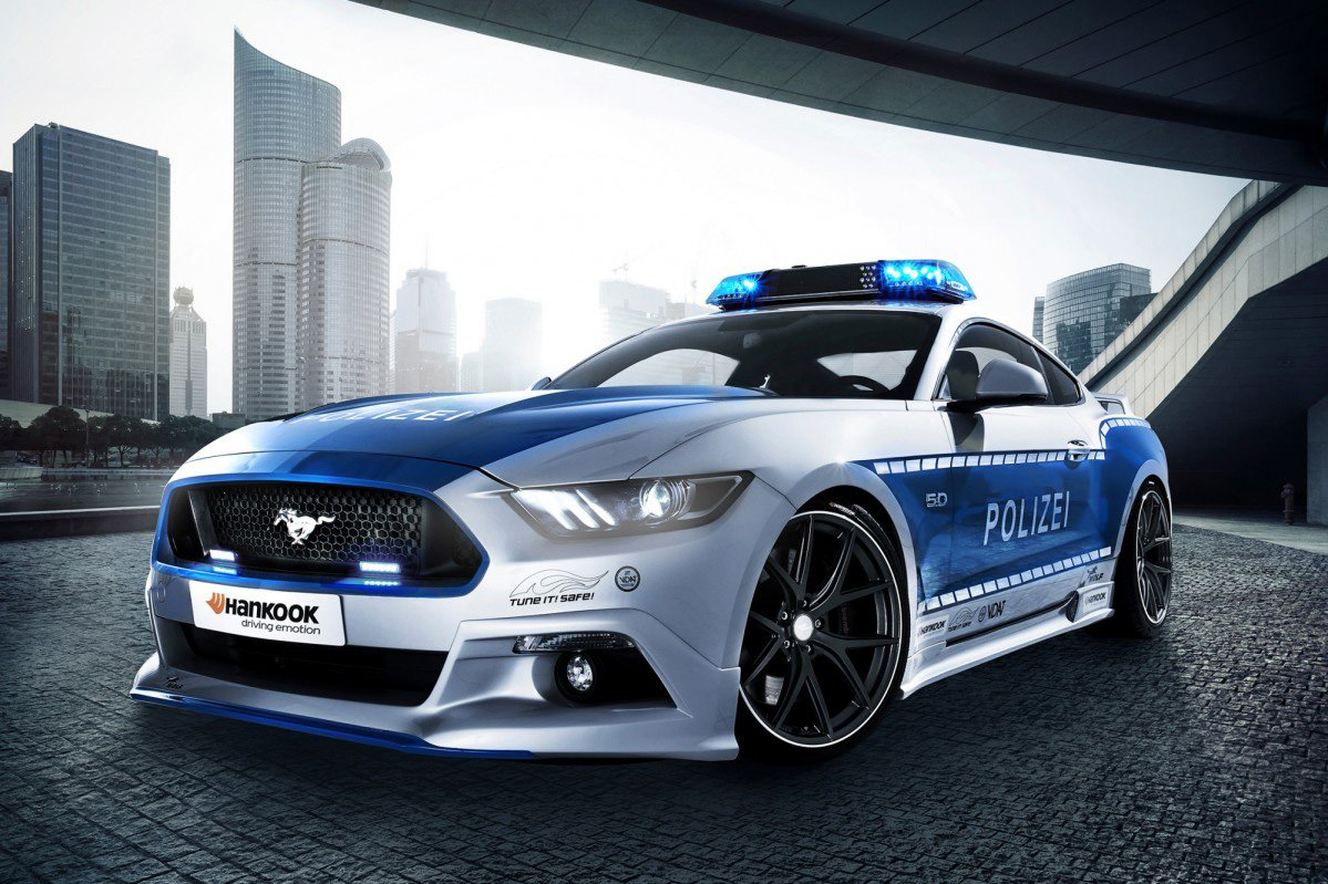 Germany S New Ford Mustang Gt Police Car