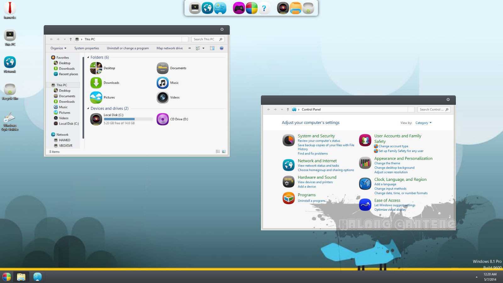 MeeGo Skin Pack for win 7 Screenshot