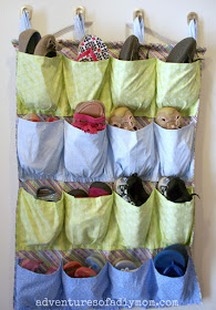 how to make a shoe rack out of cloth