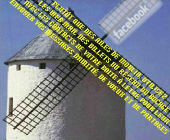Cliquez sur les ailes du moulin