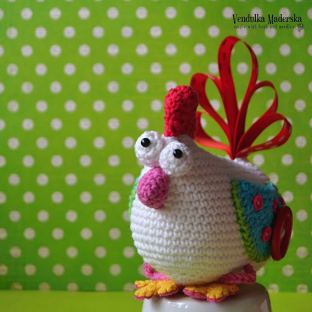 Crochet hen - crochet pattern by VendulkaM