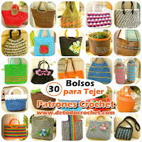 30 patrones de bolsos crochet