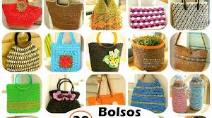 30 Patrones de Bolsos y Estuches Tejidos a Crochet / Revista para descargar
