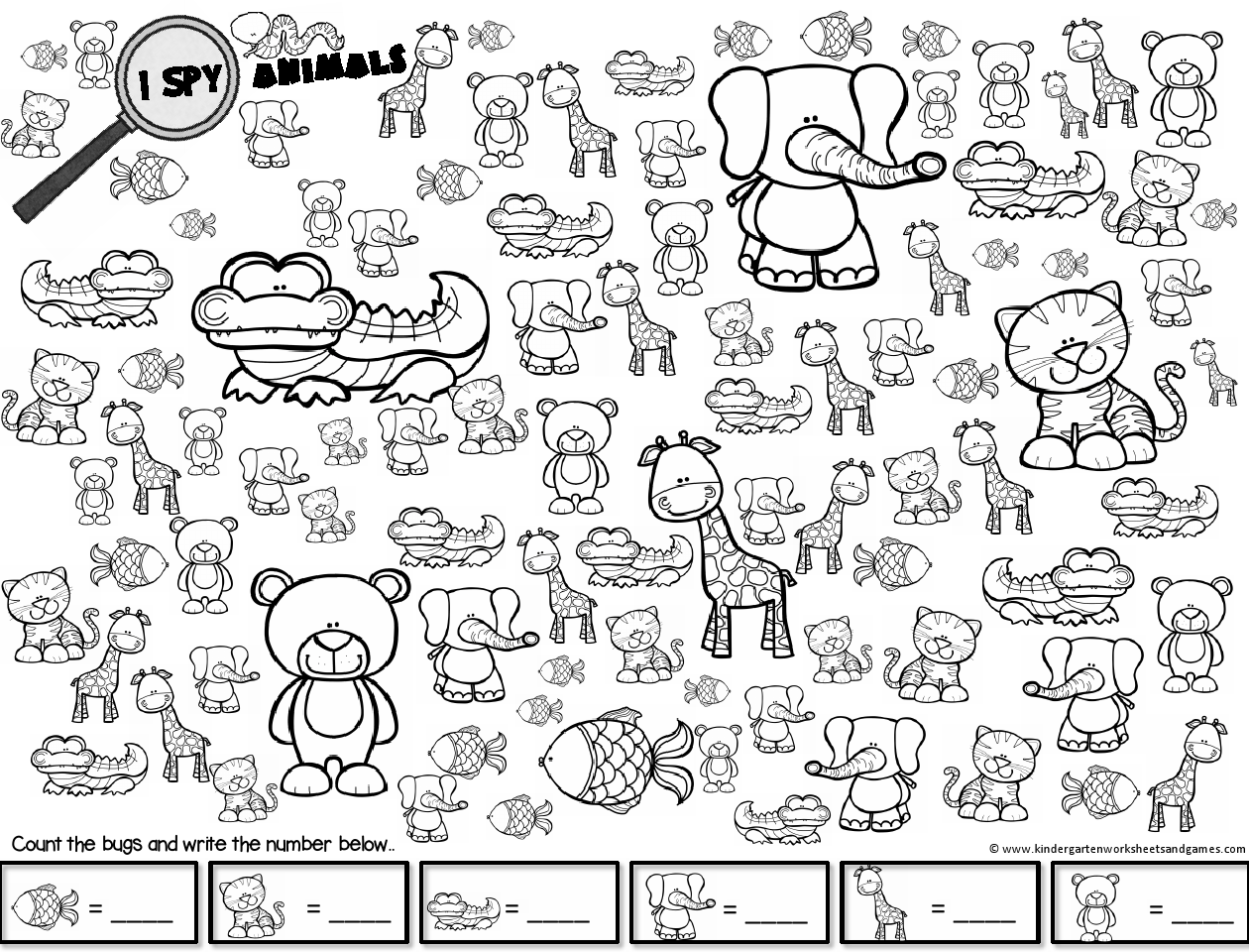 Kids Crafts Coloring Pages Spy Animals And Spy Farm Animals