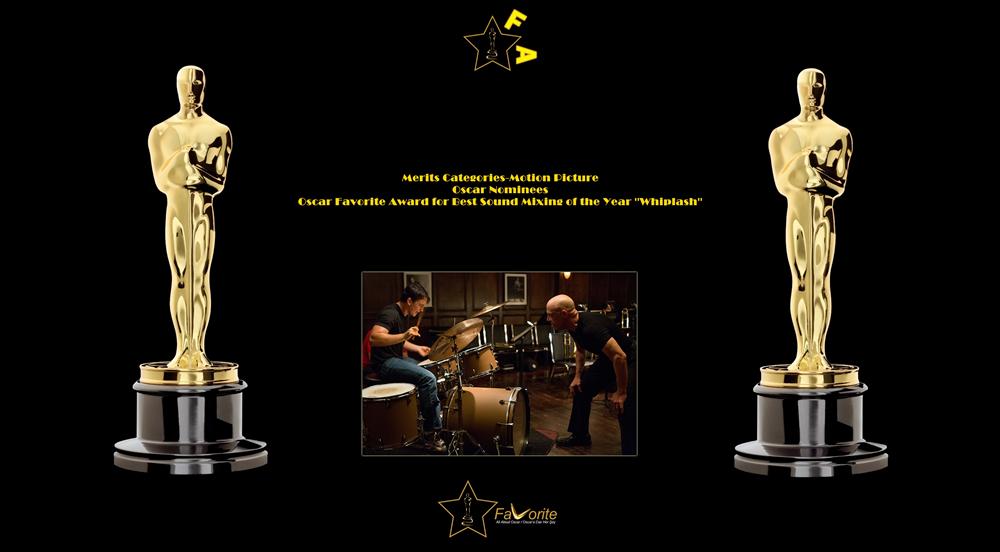 oscar favorite best sound mixing award whiplash