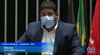 Gratidão ao Governo do Estado pelas ações sociais em Guarabira comemora Renato Meireles em discurso  na CMG