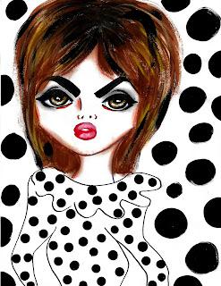 Bebee Pino Jean Shrimpton Inspo Polka dots