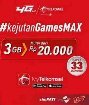 Cara Aktifkan Paket Internet Telkomsel Mobile Legend 31GB 20 Ribu 2020