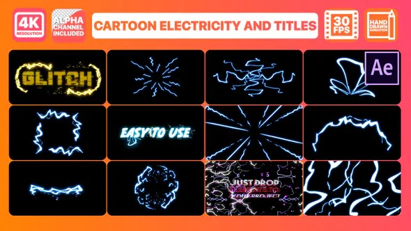 Videohive Cartoon Electricity And Titles – After Effects 28451613