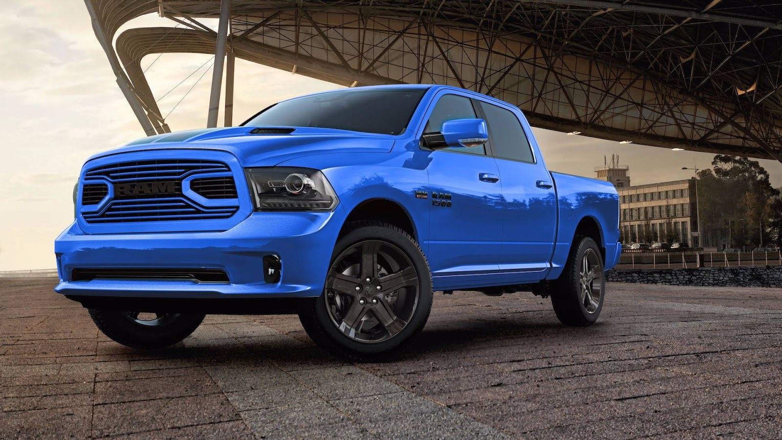 2018 ram 1500 hydro blue sport edition gets a racy french kiss carscoops. Black Bedroom Furniture Sets. Home Design Ideas