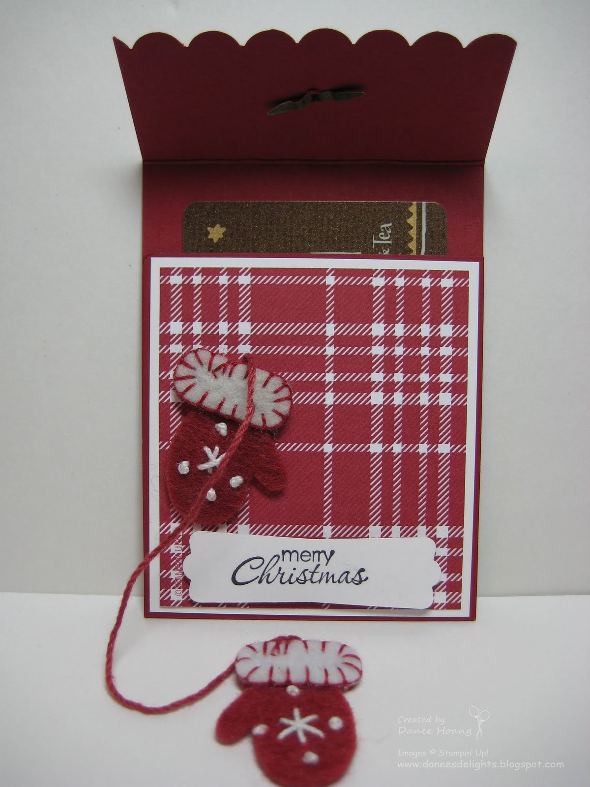 Danee's Stampin' Delights: Kim's Christmas Gift Card Holder