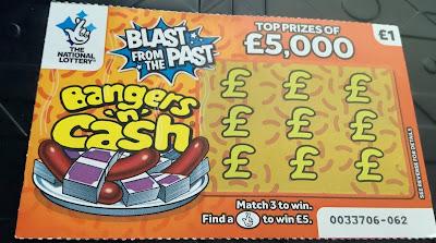 £1 Bangers 'n' Cash Scractchcard