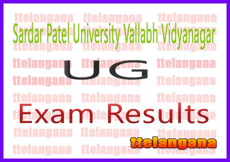 SPUVVN Sardar Patel University Vallabh Vidyanagar UG 1st 3rd 5th 7th Semester Result