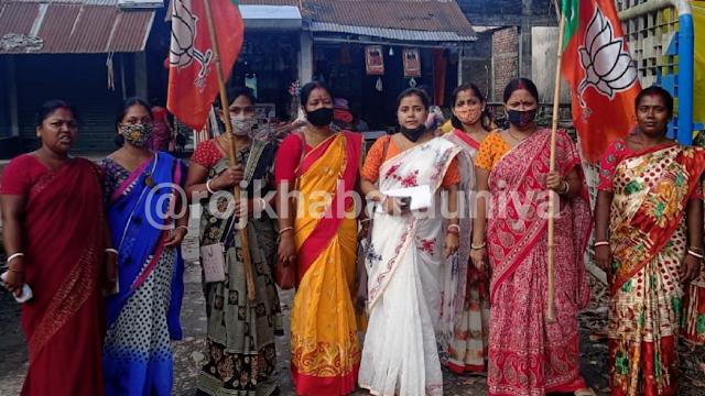 भाजपा महिला मोर्चा की ओर से नशामुक्ति के खिलाफ खारीबाड़ी थाने को ज्ञापन सौंपा गया।