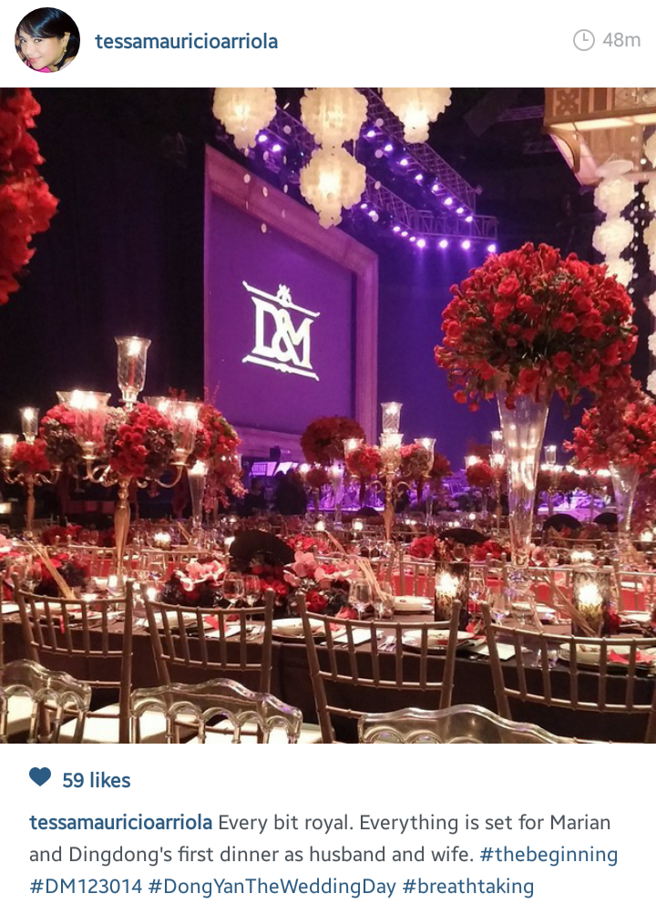 Marian and dingdong wedding reception venue